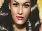Celebrity Megan Fox make up