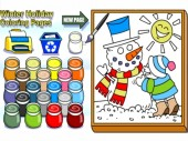 Winter Holiday Coloring Pages